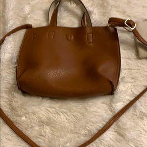 Reversible camel beige purse